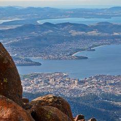 Hobart, from the top of Mt Wellington. #hobart #tasmania #discovertasmania Image Credit: Hayden Bray