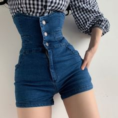 Teen Fashion Outfits, Mode Outfits, Denim Fashion, Look Fashion, Korean Fashion, Girl Fashion, Girl Outfits, Fashion Design, High Fashion Looks