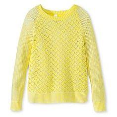 Girls' Knit Sweater - Yellow Bliss M