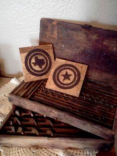 texas cork coasters