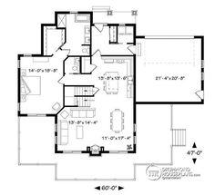 1st level 4 bedroom lakefront cottage including 2 master suites, double garage, open floor plan concept - Bonavista