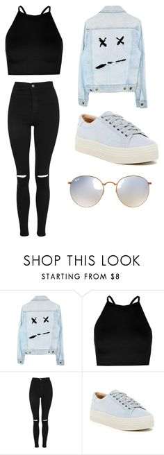 """""""My style"""" by kerenaltar ❤ liked on Polyvore featuring Boohoo, Topshop, Marc Fisher LTD and Ray-Ban"""