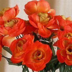 84 Silk Camellia - Orange | eFavorMart