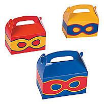 These Superhero Gift Bags may look small, but filled with party favors, they'll pack quite the punch! Paper. 4 1/2 x 2 1/2 x 5 1/2 with 3 handles. ...