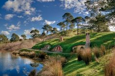 Matamata New Zealand, otherwise known as Hobbiton... from The Hobbit and Lord of the rings.  You can actually take a tour of this place.  #Hobbiton #Matamata #Travel #Hobbits