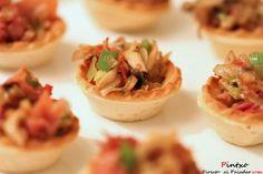Tartaleta de champiñones, ajetes y jamón serrano. Receta