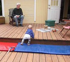 Prepared outdoor environment for infant