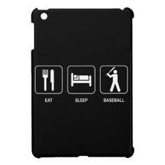 Eat Sleep Baseball iPad Mini Cases
