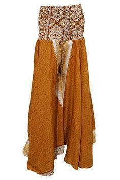Women's Maxi Skirt Brown Floral Vintage Silk Boho Long Skirts Mogul Interior http://www.amazon.com/dp/B017GZ5ND0/ref=cm_sw_r_pi_dp_GHHCwb0HB2EVR