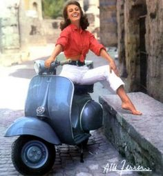 Just a Car Guy: Vespa ads with pinup queens in bikinis... mostly