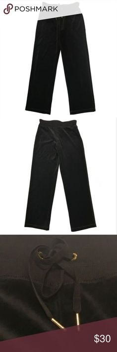 Calvin Klein Wide Leg Drawstring Velour Pants Calvin Klein Womens Wide Leg Drawstring Velour Pants Brand New with Tags Size: Women's Small Color: Black Product ID#: M5XF0079 MSRP: $69.50  Product Details: The Calvin Klein brand is an icon of sleek minimalism for the Modern Man and Woman. Products include apparel, accessories and home goods with clean lines and modern appeal. This Calvin Klein Velour Pants is guaranteed authentic.  80% Cotton/20% Polyester Imported Wide Leg Drawstring No…