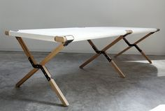 Folding Camp Bed By Topos | Hub Furniture Lighting Living