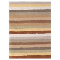 Hand-tufted New Zealand wool rug with multi-colored stripes.  Product: RugConstruction Material: 100% New Zealan...