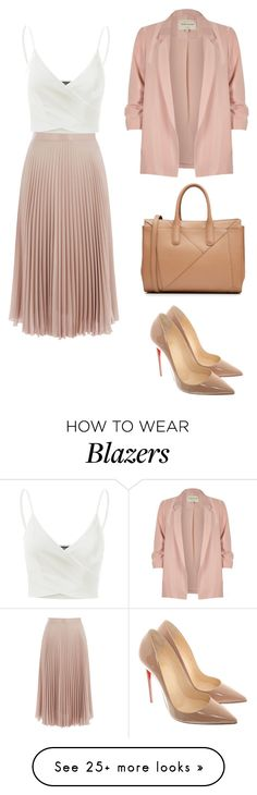 """плиссе_классика"" by olga-semola on Polyvore featuring Warehouse, Doublju, Christian Louboutin, River Island and MaxMara"