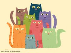 Cats of Many Colors - Illustration - Eric Barclay
