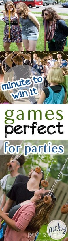 trendy indoor party games for teens girls minute to win it - Party Ideen Wedding Games For Kids, Carnival Games For Kids, Diy Carnival, Games For Girls, Carnival Decorations, Outdoor Games For Teenagers, Kids Girls, Indoor Party Games, Diy Party Games
