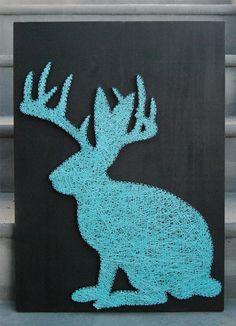 rad jackalope nail and string art // AsULikeIt // etsy