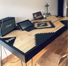 Modern Dining Table, Reclaimed Table, Industrial Style Dining Table, Navajo Style Table, Rustic Dining Table, Dine Tables, Tables by RobertsonCheney on Etsy https://www.etsy.com/listing/468698538/modern-dining-table-reclaimed-table