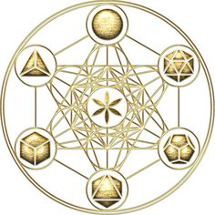 """Platonic Solids, Metatrons Cube, Flower of Life"""" Stickers by nitty ... Sacred 3, Mandalas Chakras, Flower Of Life Symbol, Cube De Metatron, Solid Geometry, Sacred Geometry Art, Platonic Solid, Alchemy Symbols, Fractals"""