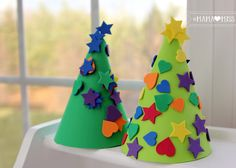 Foam Christmas Trees {mama♥miss} ©2012