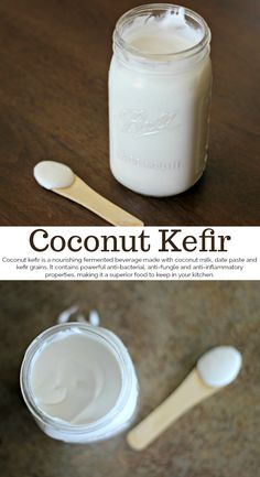Coconut Kefir: A Healing Probiotic Food Everyone Needs! - Coconut Mama - Informationen zu Coconut Kefir: A Healing Probiotic Food Everyone Needs! – Coconut Mama Pin Sie k - Kefir Yogurt, Coconut Yogurt, Coconut Kefir Recipes, Yogurt Recipes, Coconut Popsicles, Kombucha, Probiotic Foods, Fermented Foods, Vegan Recipes