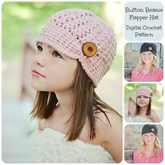 Ravelry: Button Beanie / Flapper Hat pattern by Simply Made By Erin