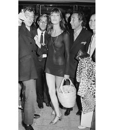 @Who What Wear - Jane Birkin  ​We admire Birkin's ability to blend sexuality with style, which is why we had to include this insanely adventurous evening ensemble.