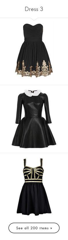 """Dress 3"" by noa005 ❤ liked on Polyvore featuring dresses, short dresses, vestidos, black dresses, tfnc, bandeau dress, mini prom dresses, mini dress, bandeau prom dress and vestido"