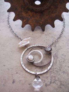 Orbit Science Jewelry Mixed Metal Jewelry by dnajewelrydesigns