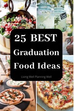 Looking for easy graduation party food ideas for your high school graduation? These best graduation party food buffet and beverage ideas are sure to wow your guests. Graduation Party Desserts, Outdoor Graduation Parties, Graduation Party Foods, Graduation Ideas, Graduation Gifts, Graduation Theme, Graduation Decorations, Grad Parties, Party Food On A Budget