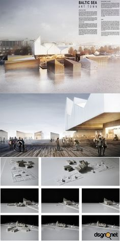 Baltic art park competition winner - WXCA - dsgnrt - daily dose of inspiration! - find your inspiration! architecture, design and art daily! Architecture Presentation Board, Presentation Layout, Architecture Board, Concept Architecture, Architecture Drawings, Architecture Design, Presentation Boards, Project Presentation, Architectural Presentation