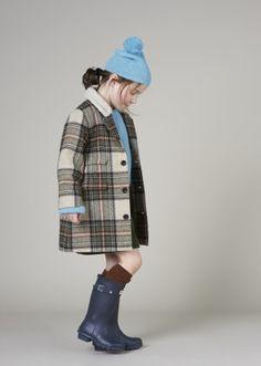 Codnor Coat, Beige Check
