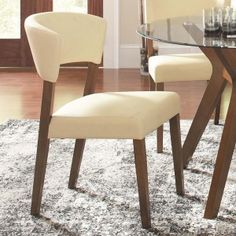 Coaster Paxton Cream Upholstered Dining Chair Set Of Two 122182