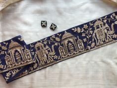 Royal Indian Palace Embroidery Trim Taj Mahal by IndianCraftSafari. ~ BEYOND BREATHTAKING {➕}♦️♥️