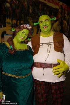 Shrek and Princess Fiona - #SDCC San Diego Comic Con 2014 #Dreamworks #Cosplay