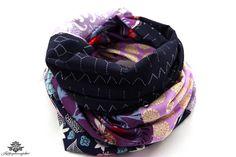 Tuch Loopschal Loop Schal blau lila violett aus der Lieblingsmanufaktur