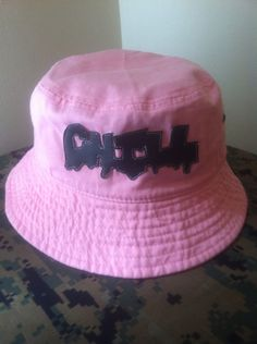 fad75187fdf Light Pink CHILL Bucket Hat by ALIENSofBROOKLYN on Etsy