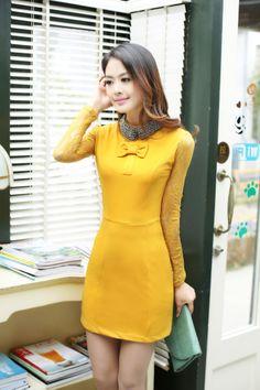 Long sleeve dress, Lace Sleeve, lace dress, Bodycon Dress, bodycon, long sleeve bodycon, Elegant Collar, metal collar, encrusted collar, cut...