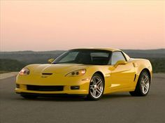 One of Andrew's dream cars, a yellow corvette. :)