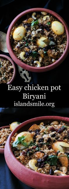 This simple,easy to follow instructions on how to make a Srilankan inspired pot Biryani is not just for special occasions but makes an easy meal for families, a crowd or parties.