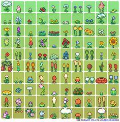 100 Flower Sprites by Neoriceisgood.deviantart.com on @DeviantArt