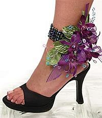 Good idea to have the corsage on the foot if you don't have a date