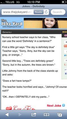 Best Little Johnny joke