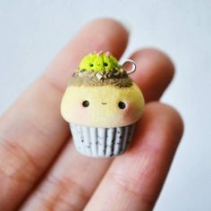 Repost from Hello everyone recently made a cupcake using a cupcake mold from There's a tiny cactus popped out from top of cupcake to get some sunlight Hope you like it❤ Polymer Clay Cupcake, Polymer Clay Kawaii, Fimo Clay, Polymer Clay Charms, Polymer Clay Jewelry, Cupcake Mold, Polymer Clay Miniatures, Polymer Clay Creations, Clay Projects