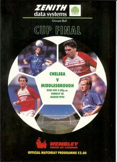 Chelsea vs Middlesbrough ZDS Cup Final 1990