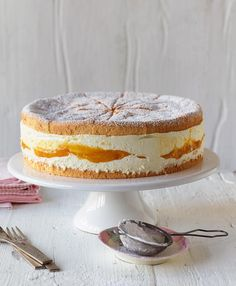 Rezept: Käse-Sahne-Torte mit Mango