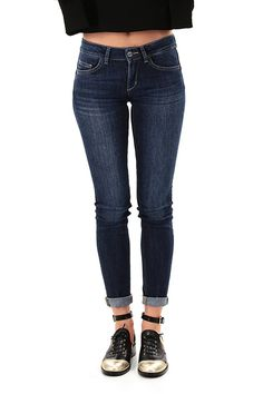 LIU.JO - Jeans - Abbigliamento - Jeans modello bottom up in cotone elasticizzato a cinque tasche. - BLUE - € 139.00