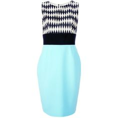 FAUSTO PUGLISI optical sleeveless dress found on Polyvore | #WinterSummer #CoolWinter #style #dramatic #classic