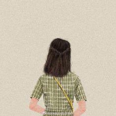 Cute Cartoon Girl, Cartoon Art, Wallpaper Wa, Anna Disney, Abstract Line Art, Digital Art Girl, Landscape Illustration, Anime Films, Anime Art Girl