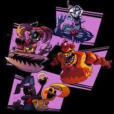 Some funky machine people. Freddy S, Five Nights At Freddy's, Chucky, Doodles Kawaii, Fnaf Book, Fnaf Wallpapers, Fnaf Drawings, Art Drawings, Rpg Horror Games